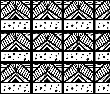 Neue Batik Black fabric by lush_kingdom on Spoonflower - custom fabric