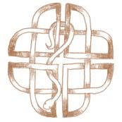 Sketch style celtic knot & snake