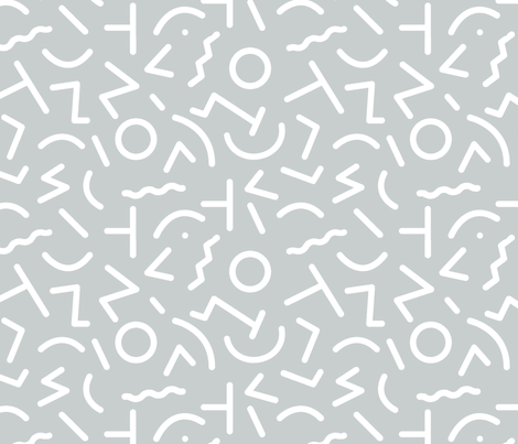 grey fabric by themaybepile on Spoonflower - custom fabric