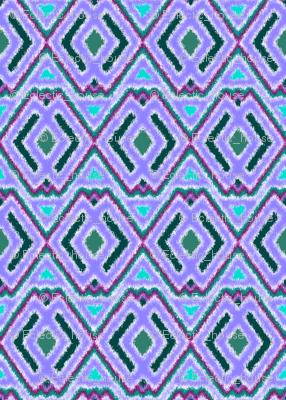Double Diamond Ikat Lavender