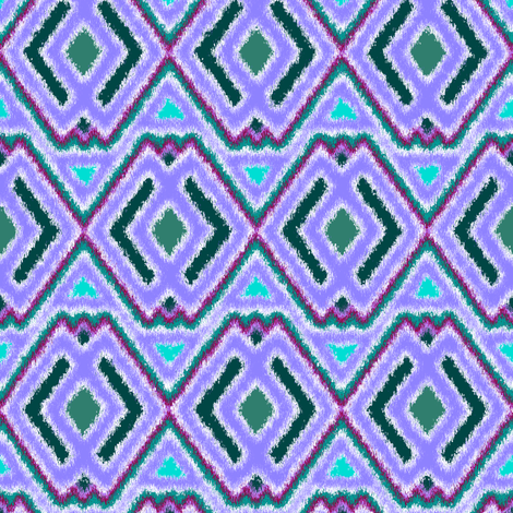 Double Diamond Ikat Lavender fabric by eclectic_house on Spoonflower - custom fabric