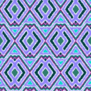 Double Diamond Ikat Lavender