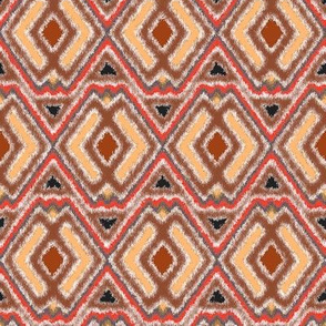 Double Diamond Ikat Cocoa