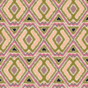 Double Diamond Ikat Peach