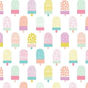 Colorful popsicle ice cream summer illustration pattern