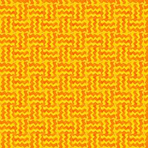 Zig Zag Yellow and Orange