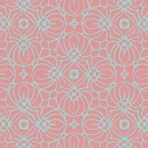 Rose & Blue Pattern