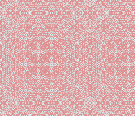 Coral and White Pattern fabric by lauriekentdesigns on Spoonflower - custom fabric