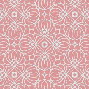 Coral and White Pattern