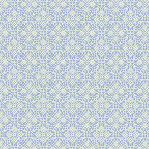 Lacy Blue & Cream Design Pattern