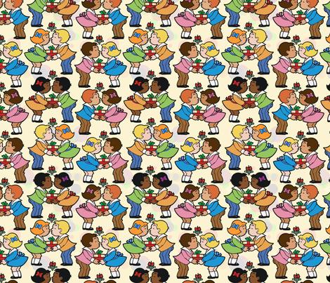 mistletoe fabric by hannafate on Spoonflower - custom fabric