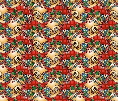 Christmas Brass fabric by hannafate on Spoonflower - custom fabric