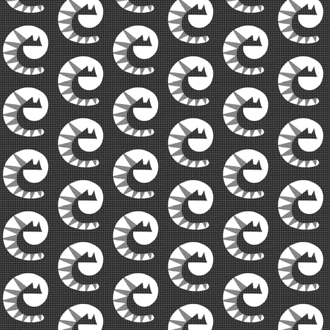 Gray Flannel Sawtooth Cats fabric by eve_catt_art on Spoonflower - custom fabric