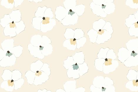 warhol garden -cream- fabric by frumafar on Spoonflower - custom fabric