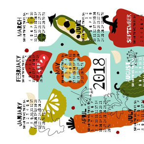 2018 Pickles Tea Towel Calendar by oleynikka