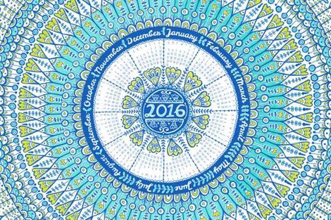 2016-calendar fabric by mandakay on Spoonflower - custom fabric