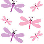 Dragon Flies Large -pink purple