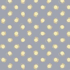 yellow dots on gray