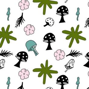Retro Mushroom Print
