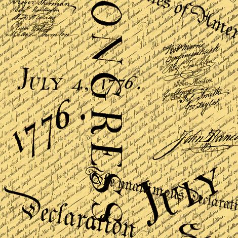 Dean's Declaration of Creativity fabric by midcoast_miscellany on Spoonflower - custom fabric