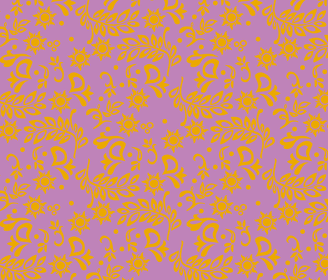 Tangled Wedding Designer fabric by aimee on Spoonflower - custom fabric