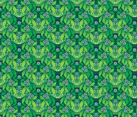 an greenery fabric by hannafate on Spoonflower - custom fabric