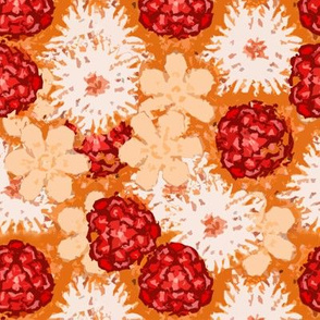 Cutout Floral, mostly Oranges