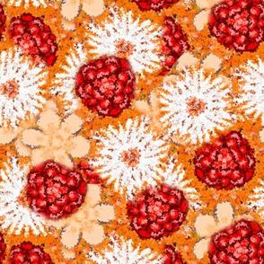 Impressionistic Orange Floral