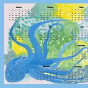 Blue Octopus' Garden 2018 Calendar - Horizontal
