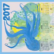 Blue Octopus' Garden Calendar 2017 - Vertical