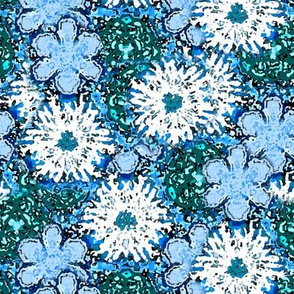 Impressionistic Blue Floral
