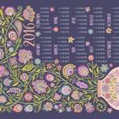 2016 Tea Towel Calendar-Let Your Soul Blossom and Grow