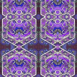 Midnight Hexagon Garden