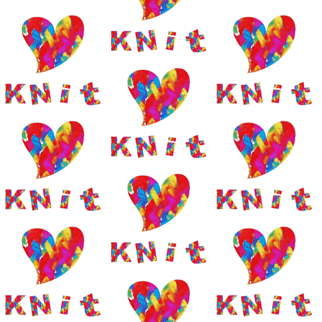 Love 2 Knit 2 fabric by frogwindy on Spoonflower - custom fabric