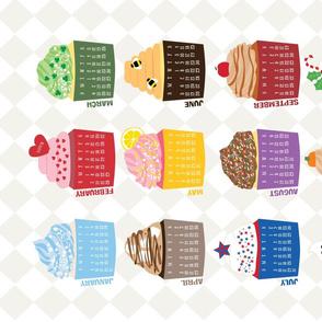 Sweet 2016 Cupcake Calendar