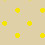 polka dots - yellow on pale brown