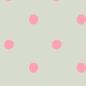 polka dots - pink on pale gray