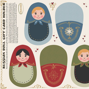 Russian Doll gift card holders