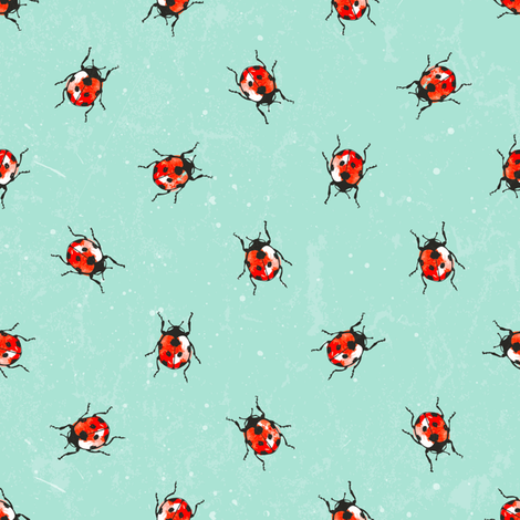 ladybug_seamless-1_300 fabric by ev-da on Spoonflower - custom fabric