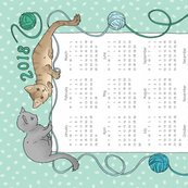Cats_tea_towel_calendar_2018_hazel_fisher_creations_shop_thumb