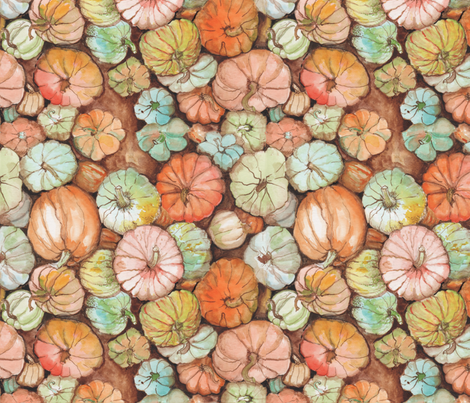 Pumpkin Patch  fabric by edithschmidt on Spoonflower - custom fabric