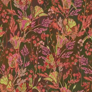 Poppy Garden (Dark Moss Green)