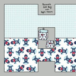 Snowflake snowangel giftbag kit