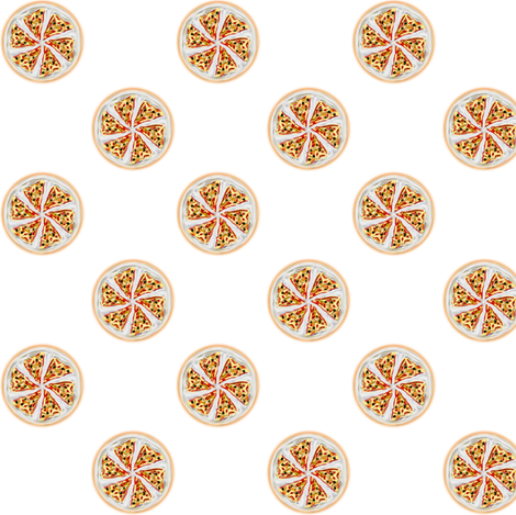 Pizza Polka Dots fabric by eclectic_house on Spoonflower - custom fabric