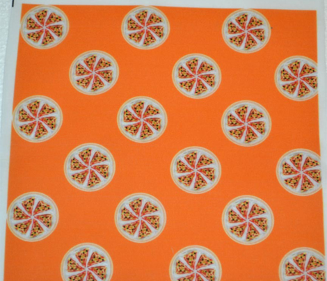 Pizza Polka Dots on Orange