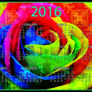 2016 Calendars - Rainbow Rose
