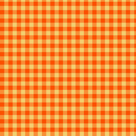 pumpkin gingham fabric by weavingmajor on Spoonflower - custom fabric