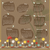 Retro Dream 2016 Tea Towel Calendar_Earthy