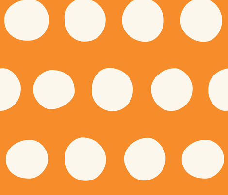 Jumbo Dots: Carrot fabric by nadiahassan on Spoonflower - custom fabric