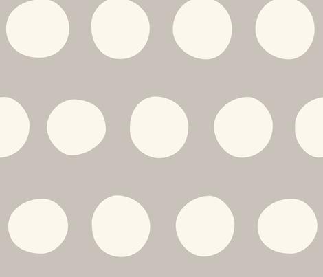 Jumbo Dots: Gray fabric by nadiahassan on Spoonflower - custom fabric
